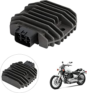 INNOGLOW Motorcycle Rectifier Voltage Regulator Aluminum Accessories Replacement Assembly for Yamaha XVS1100 XVS650 YZF R6 Grizzly 600 Kodiak 450 Rhino 450/660 WR250R TMAX XP500 FZ6R