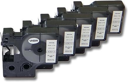 KL-200E KL-300 KL-60 por XR-9WE1 KL-100E vhbw 10x Casete de Cinta Cartucho 9mm para Casio CW-L300 KL-1500 XR-9WE KL-120