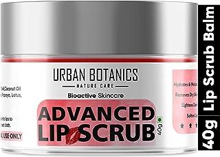 UrbanBotanics® Advanced Lip Scrub Balm - Lightening and Brightening Dark Lips - Lip Scrub For Women & Men Smoker/Dry/Chapp...