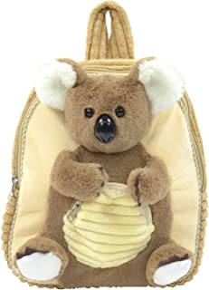 Plüsch Rucksack für Kinder, Koala, Braun/Beige, flauschig weich, ca. 35 cm Mochila Infantil 35 Centimeters Multicolor (Braun/Beige)