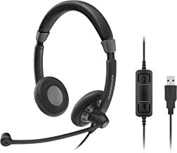 Sennheiser SC 70 USB MS (506502) - Double-Sided Business Headset | For Skype for Business | with HD Sound, Noise-Cancelling Microphone, & USB Connector (Black)