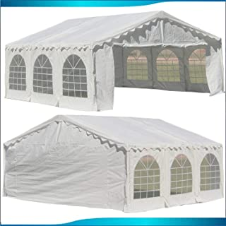 DELTA Canopies Budget PE Party Tent Canopy Shelter 20`x20` - White