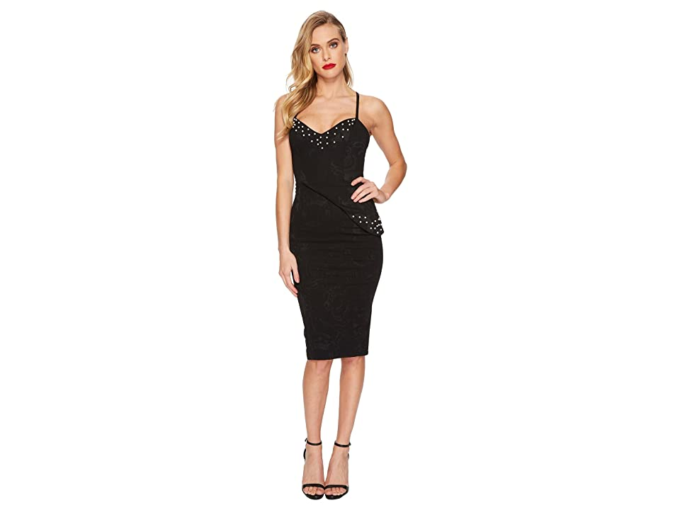 Unique Vintage Sweetheart Pearl Tallulah Wiggle Dress (Black) Women