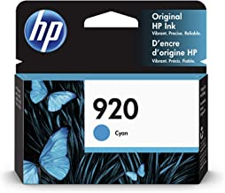 HP 920 | Ink Cartridge | Cyan | Works with HP OfficeJet 6000, 6500, 7000, 7500 | CH634AN