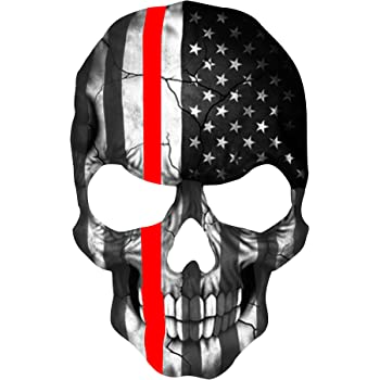 AMERICAN FLAG PUNISHER SKULL REFLECTIVE FIRE HELMET DECALS FIRE HELMET STICKER