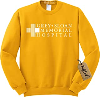 52ce9a6a68ad65 NuffSaid Grey Sloan Memorial Hospital Sweatshirt Sweater Crew Neck Pullover  - Premium Quality