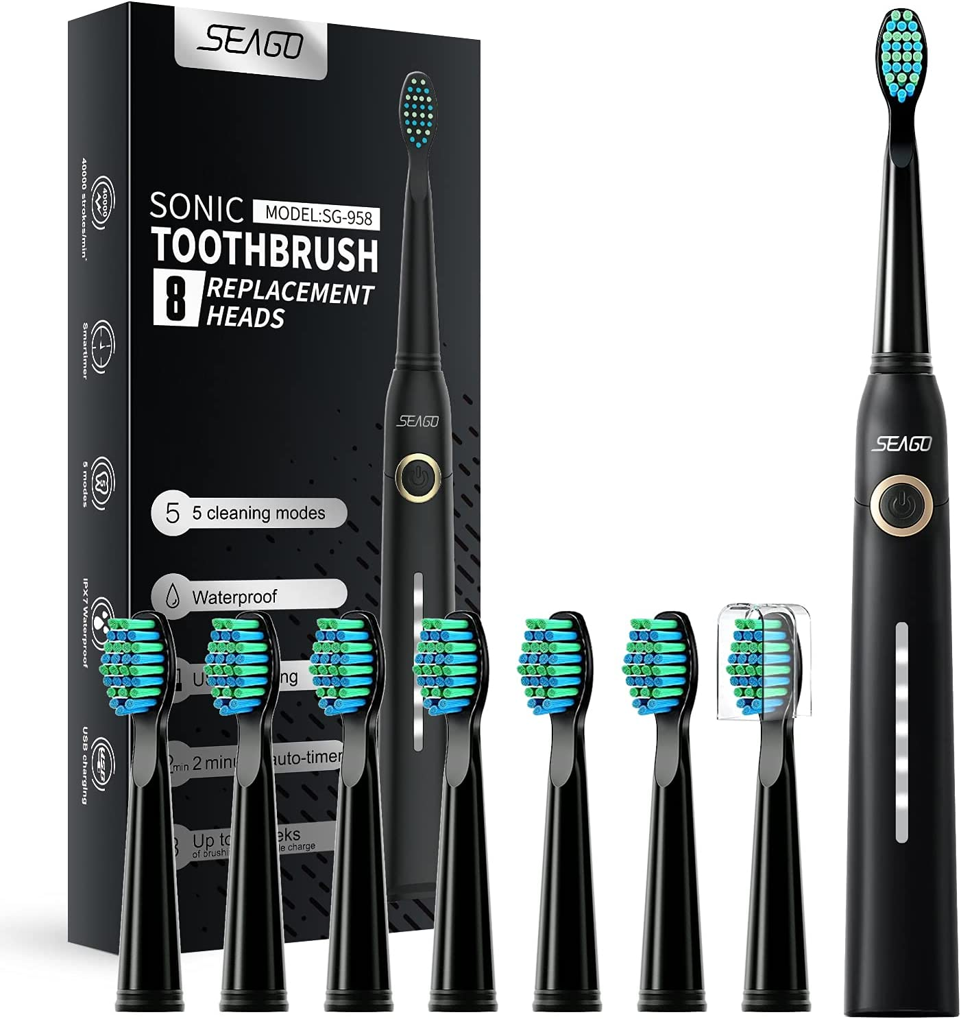 Seago Sonic Electric Toothbrush for Adults and Dupont Directly managed store 8 Max 84% OFF Br Kids
