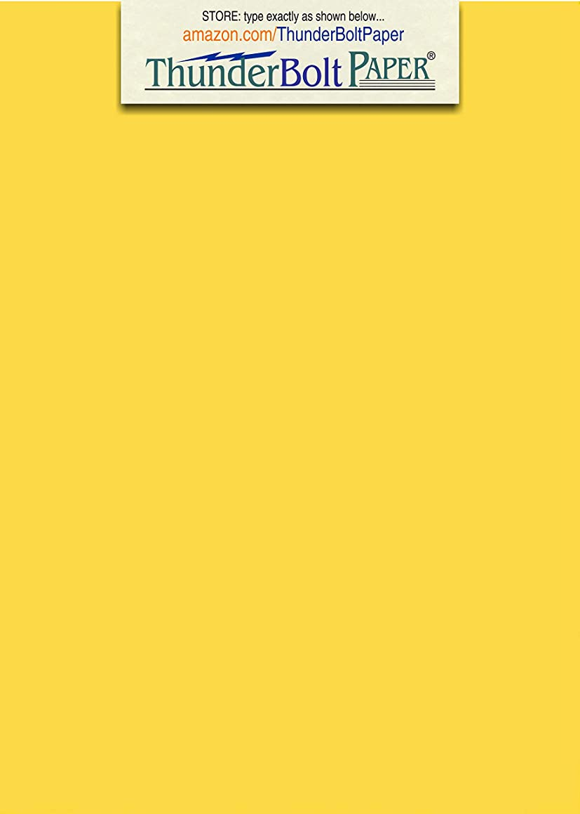 100 Bright Golden Yellow 65lb Cover|Card Paper - 5.5