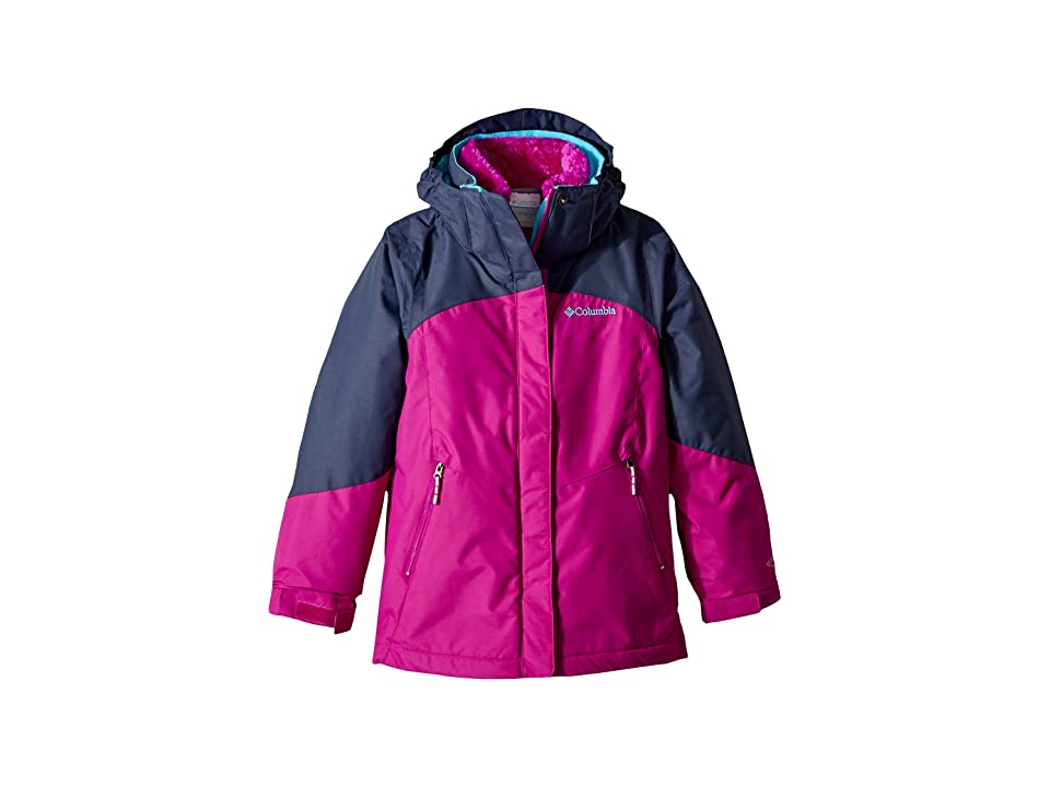 Columbia Kids Bugabootm II Fleece Interchange Jacket (Little Kids/Big Kids) (Bright Plum/Nocturnal/Atoll) Girl