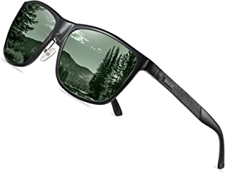 DUCO Men's Sports Polarized Al-Mg Metal Frame Sunglasses UV Protection Sunglasses for Men 8200