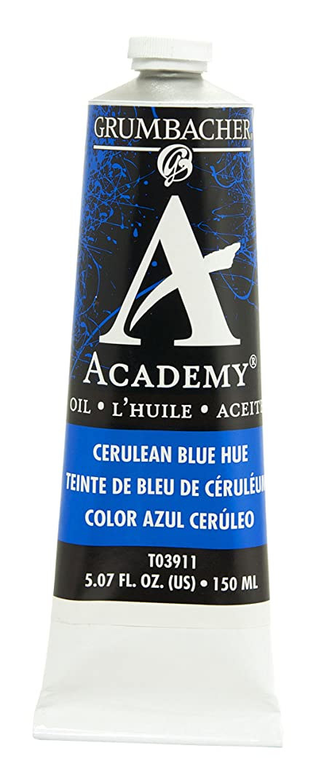 Grumbacher Academy Oil Paint, 150 ml/5.07 oz, Cerulean Blue Hue