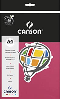 Papel Colorido A4 120g/m², Canson, 66661222, Rosa Escuro, 15 Folhas