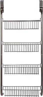 Bodico 91243 4-Tier Over-The-Door Bathroom Shower Organizer Basket, 16 x 36 inches, Silver