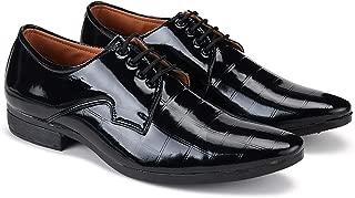 Zenwear Men's Black Lace-Up Formal Shoes