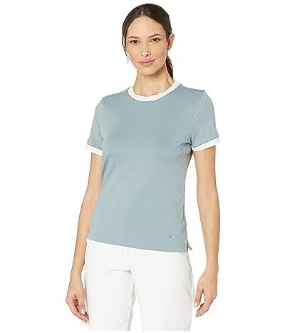 Nike Golf Dry Short Sleeve Ringer Top (Aviator Grey/Sail/Aviator Grey) Women
