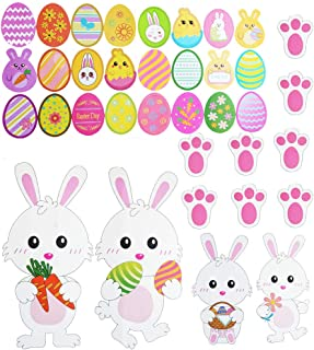 HighlifeS/_Easter Decorations Happy Easter Rabbit Balloons Party Aluminum Mylar Decorative Balloons for Easter Fest
