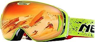 NENKI Snowmobile Goggles for Ski Snowboard Snow Sport with Anti Fog & 100% UV Protection Lens for Men Women NK-1006 & NK-1007