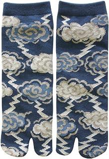 Samurai market, Calcetine Tabi di Japon Design Thunder and Clouds