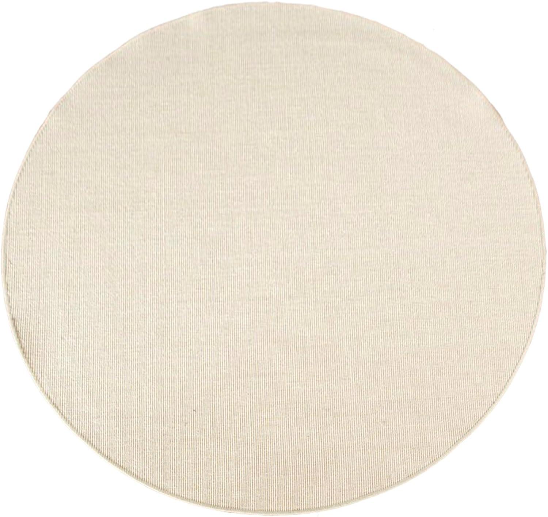 Havatex Sisal Teppich Trumpf rund - hypoallergene Naturfaser  schadstoffgeprüft pflegeleicht schmutzabweisend strapazierfhig  ideal für Wohnzimmer Schlafzimmer, Farbe Creme, Gre 160 cm rund