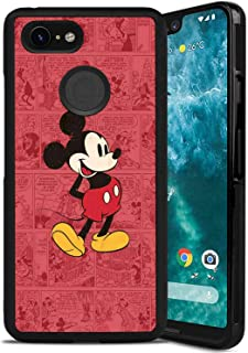 Cell Phone Case Fit Google Pixel 3 XL Cartoon Classic Disney Icon Mickey Mouse Old Oldie Red Ringtones and Wallpapers