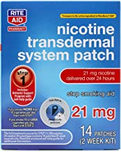Rite Aid Nicotine Patches - Step 1   21 mg - 14 Count   Quit Smoking Patches   Smoking Aid to Help Quit Smoking   Nicotine Transdermal System Patch