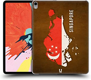Head Case Designs Singapore Country Flag Maps Hard Back Case Compatible for iPad Pro 12.9 (2018)
