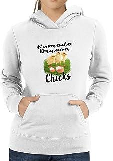 Eddany Komodo Dragon Three Chicks Women Hoodie