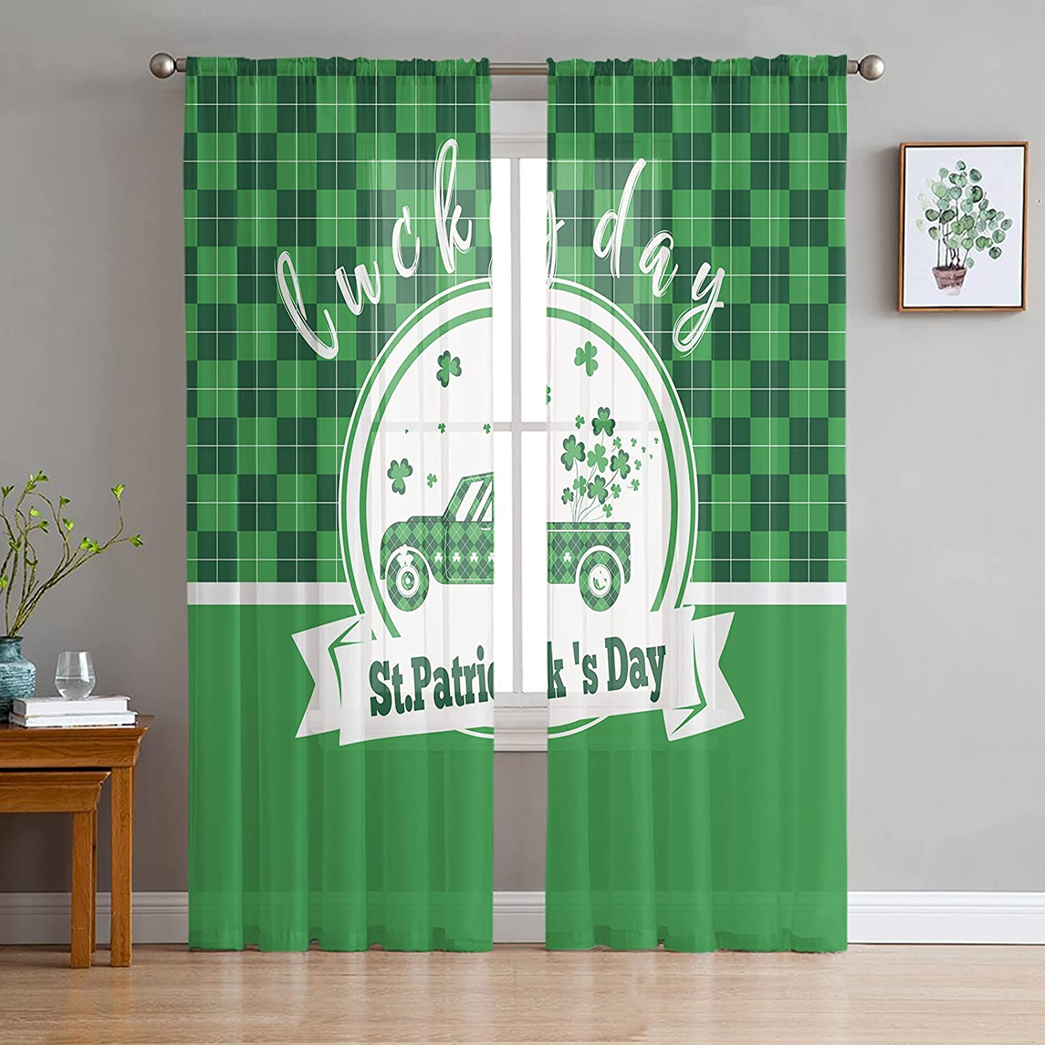 Sheer Voile Tampa Mall trust Chiffon Window Curtains Soft Wrinkle Touch with Fre