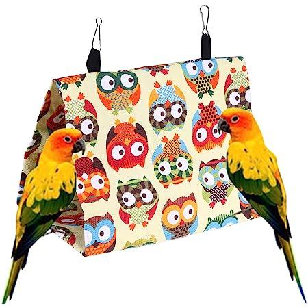 OOEOO Bird Nest Snuggle Hut Nest House,Parrot Habitat Cave Hanging Tent,Parrots Hammock Hanging Cave,Parrot Hideaway