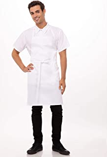 Chef Works Unisex Bib Apron, White, One Size