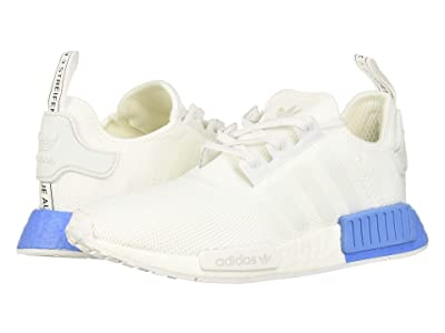 adidas Originals Kids NMD_R1 J (Big Kid) (White/Real Blue) Kids Shoes
