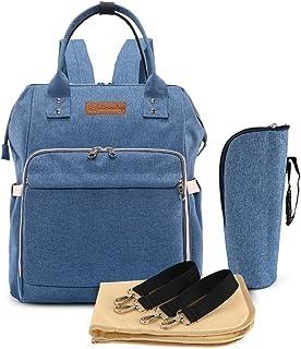 JIAN YA NA Diaper Bag Waterproof Nappy Changing Bag Backpack Multi-Functional Large Capacity Travel Backpack Organizer wit...