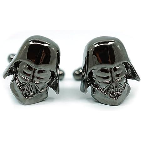 Teri's Boutique Men's Jewelry Star Wars Darth Vader Head Dark Gray Gunmetal Cufflinks Pair w Box