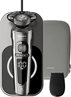 PHILIPS Prestige Wet & Dry Electric Shaver for Men, Black & Silver, SP9860/13. 2 years warranty