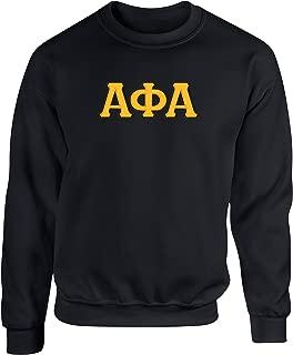 Alpha Phi Alpha Twill Letter Crewneck Sweatshirt