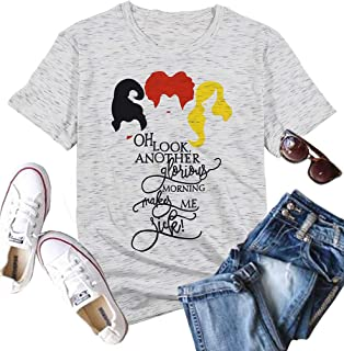 MNLYBABY Oh Look Another Glorious Morning Makes ME Sick T-Shirt Women Sanderson Sisters Halloween Costumes Tops
