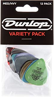 Dunlop PVP102 Pick Variety Pack, Assorted, Medium/Heavy, 12/Player`s Pack