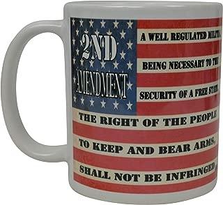 Patriotic USA Flag Coffee Mug Novelty Cup Gift America Pro Gun 2nd Second Amendment
