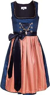 Edelnice Trachtenmode Bayerisches Damen Designer Mini Dirndl Josepha Kleid 2-teilig  Schürze