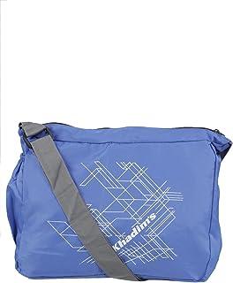Khadim's Blue Textile Print Casual Crossbody Bag for Men