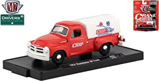 M2 Machines 1954 Studebaker 3R Truck (Crane CAMS) Auto-Drivers Release 56 - Castline 2019 Special Edition 1:64 Scale Die-Cast Vehicle & Custom Display Base (R56 18-42)