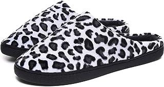 Peluche di Moda Stampa Leopardo Pantofole Autunno E Invernale Calde Morbido Anti-Scivolo Peluche Scarpe Ciabatte delle Coppie Pantofole in Cotone Slippers