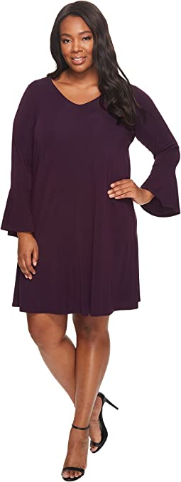 Karen Kane Plus - Plus Size Flare Sleeve Taylor Dress