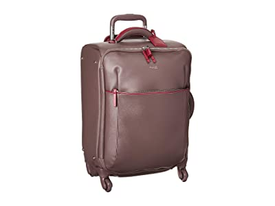 Lipault Paris Variation Spinner 55/20 Carry-On (Grey/Raspberry) Luggage