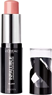 L'Oreal Paris Makeup Infallible Longwear Blush Shaping Stick, Up to 24hr Wear, Buildable Cream Blush Stick, 45 Sexy Flush, 0.3 oz.
