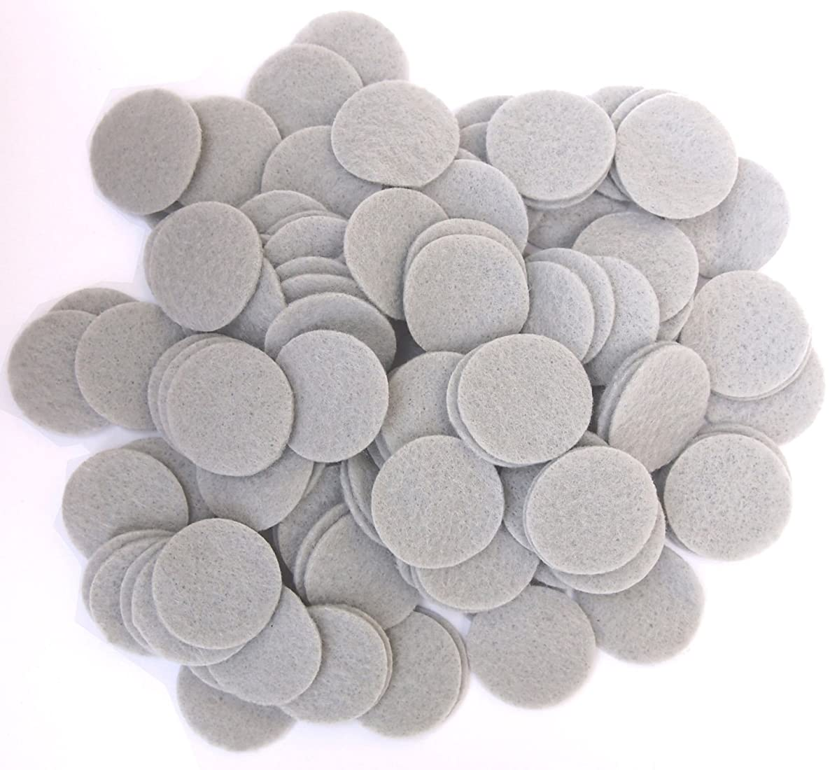 Playfully Ever After 3/4 Inch Gray 150pc Felt Circles