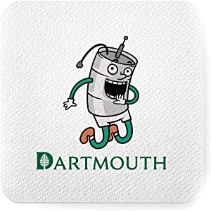 Coasters Absorbent Ceramic Dartmouth Holder College Cork Keggy Base The Decor Keg Furniture University Athletics Mascot Gifts for Student Housewarming Gift for Friends - Men, Women Birthday - Cool Ho