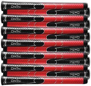Winn Set of 9 or 13 DRITAC AVS Standard Black/RED Golf Grip. 5DT-BRD