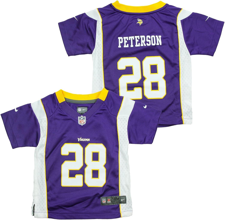 NIKE Adrian Peterson #28 Minnesota Vikings Infant Game Jersey - Purple