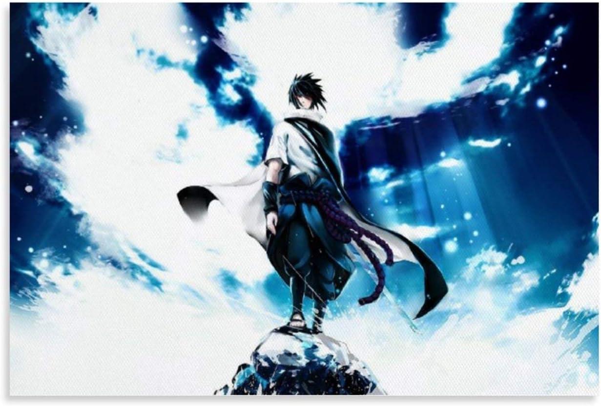 Uchiha Sasuke dise/ño de anime japon/és 20 x 30 cm CHAOZHE P/óster decorativo con dise/ño de Naruto